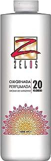 Oxigenada 20 volúmenes - 1000 ml - Aroma de Manzana - Emulsión Oxidante en Crema para Tinte y Decoloración - Da una Textura Sedosa Al Cabello - Uso Profesional - Zelos