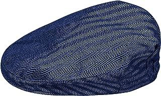 mintgreen Bébé Chevrons Casquette Plate Vintage Drivers Hat with Lining, Épais et Doux, Âge 0-8 Ans