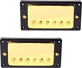 Seismic Audio Pair of Gold Classic PAF Style Closed Humbucker Pickups Bridge and One Neck (SAGA50)