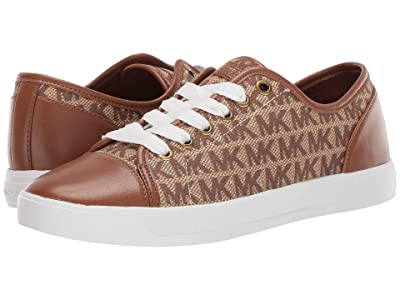 MICHAEL Michael Kors MK City Sneaker (Beige/Ebony/Luggage) Women