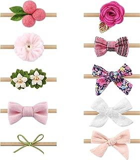 Zoe Deco Baby Girl Headbands, Newborn Hairbands w/Bows