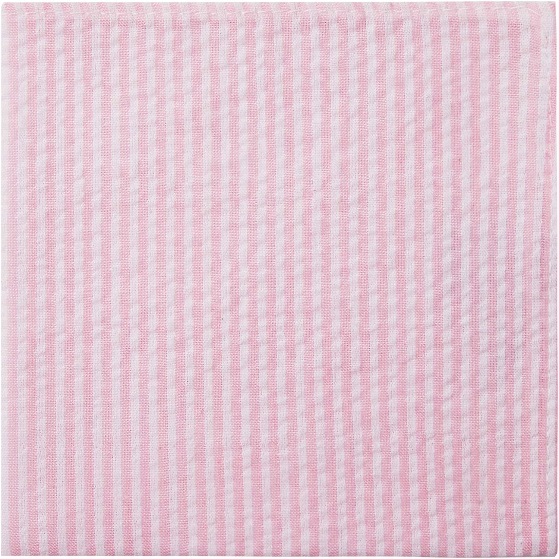 Jacob Alexander Seersucker Striped Pattern Pocket Square Handkerchief