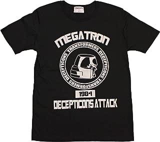 トランスフォーマー【国内公式監修】Tシャツ メガトロンフェイスカレッジデザイン (XS, ブラック)