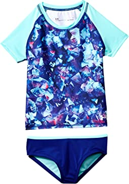 Under Armour Kids Metaquartz Rashguard Set (Little Kids)