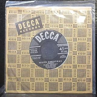 White Christmas & God Rest Ye Merry Gentlemen by Bing Crosby 45 Vinyl Record