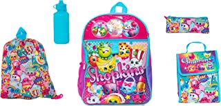 Moose Girls' Shopkins 5 Pc Set Backpack, Pink, One Size