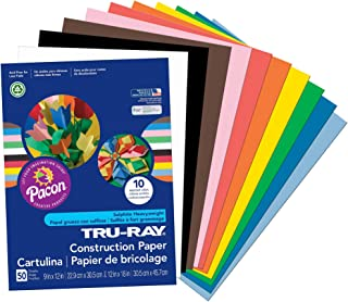 "Pacon Tru-Ray Construction Paper, 9"" x 12"", Assorted"