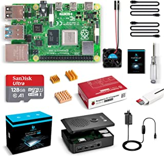 LABISTS Raspberry Pi 4 Complete Kit with Pi 4 Model B 8GB RAM Board, 128GB Micro SD Card, 5V 3A Power Supply, Cooling Fan ...