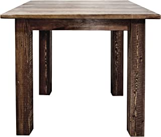 Montana Woodworks Homestead Collection Counter Height Square 4 Post Dining Table, Stain & Lacquer Finish