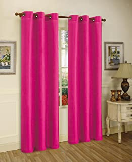 Gorgeous Home (#72) 2 PANELS SOLID HOT PINK 84
