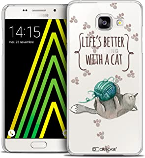 Samsung Galaxy A5 2016 Case, Ultra Thin Quote Life's Better with a Cat Case