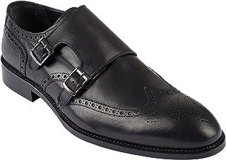 Jack Martin Chaussures faites à la main en cuir européen véritable Noir