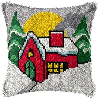 Kit de loquet kit de crosse bricolage taie d'oreiller en crochet imprimé motif de coussin de coussin de coussin de coussin...