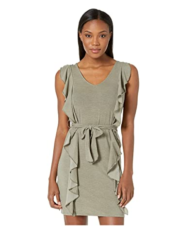 Carve Designs Bella Dress (Olive Stripe) Women