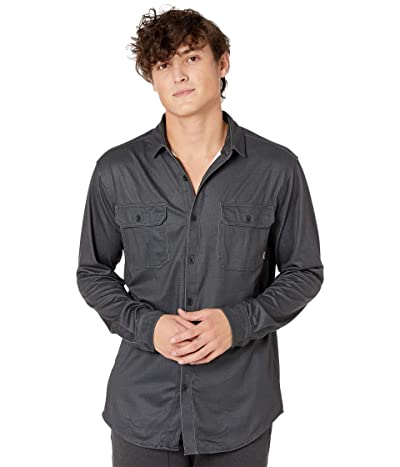 Burton Midweight Oxford Shirt (True Black Carpenter Dobby) Men