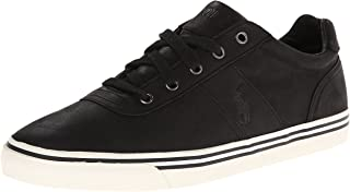 Polo Ralph Lauren Men's Hanford-Western Leather Fashion Sneaker,Black Leather,7 D US