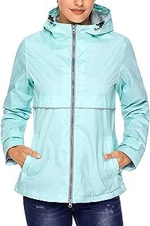 Rain Jacket Women Waterproof Lightweight Hooded Raincoat Lined Rainwear