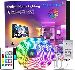Led Strip Lights, ViLSOM 32.8 Feet RGB Led Light Strip with Remote and 12V Power Supply,..