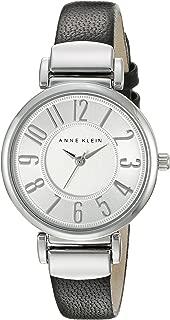 Anne Klein Women's Easy to Read -Tone Leather Strap Watch