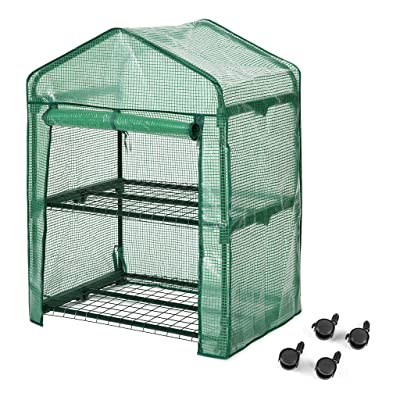 "Finether 2-Tier Greenhouse,27"" Wx19 Dx38 H Port..."