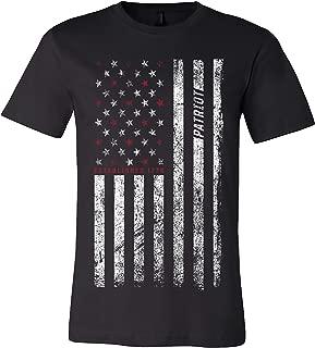 Patriotic American Flag Men's T-Shirt Distressed 1776 Printed in USA