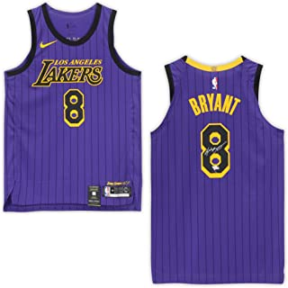 b5fb7dc0c52 Kobe Bryant Los Angeles Lakers Autographed #8 City Edition Authentic Jersey  - Panini Authentic -