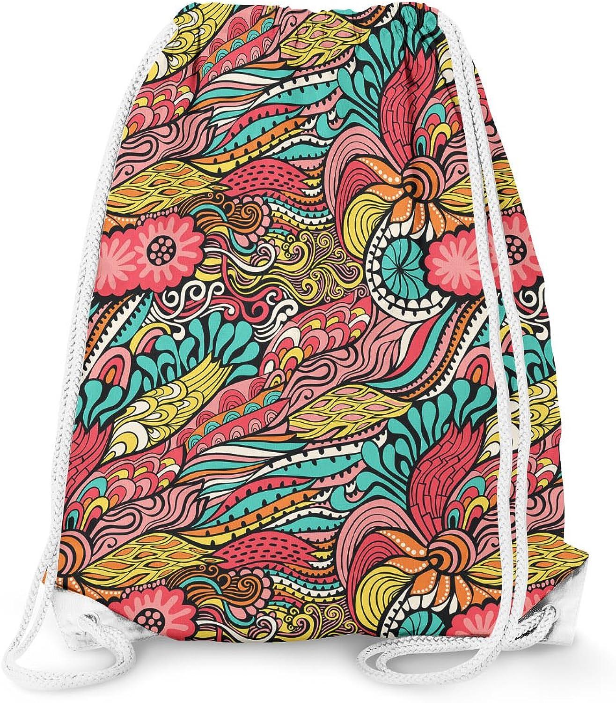 colors in Flight Drawstring Bag - Large (13.3 x 17.3)