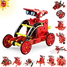 Tomons Solar Robot Kit 12 in 1 Science STEM Robot Kit Building Toys for Kids Aged 8-12 and Older,DIY Science Experiments Robot Toys Gift for Boys, Solar Powered by The Sun