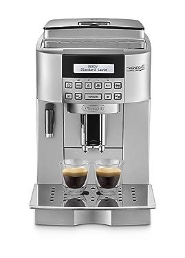 DeLonghi ECAM 22.360.S Kaffee-Vollautomat (1.8 Liter, 15 bar, 1450 Watt, Milchbehälter) silber