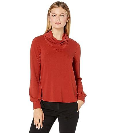 Karen Kane Cowl Neck Sweater (Rust) Women