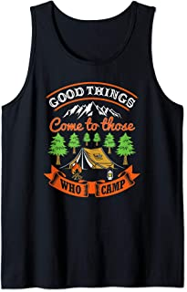 Funny Camping Happy Camper Nature Outdoors Lover Vacation Tank Top