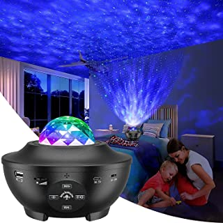 Galaxy Projector, Star Projector Sky Light for Bedroom Color Change Star Light Projector 10 Color Romantic Rotate Remote C...