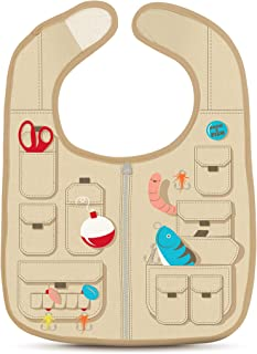 Fred Chill Baby, Dressed to Spill - Fisherman's Vest Bib Set with Worm Teether…