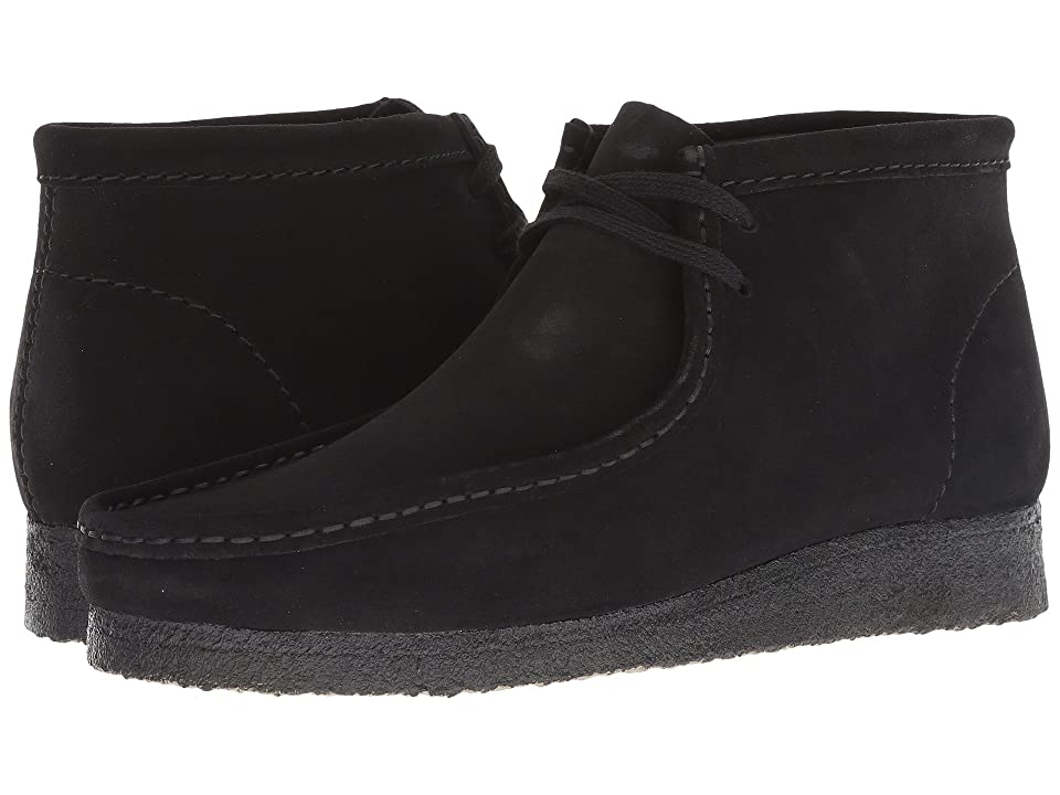 60s Mens Shoes | 70s Mens shoes – Platforms, Boots Clarks Wallabee Boot Black Suede Mens Shoes $150.00 AT vintagedancer.com