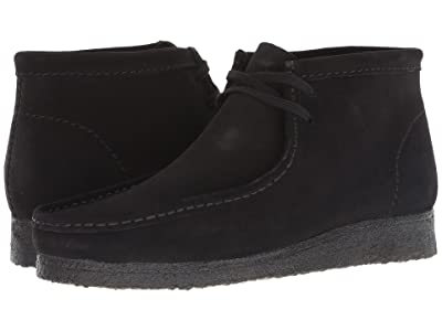 Clarks Wallabee Boot (Black Suede) Men