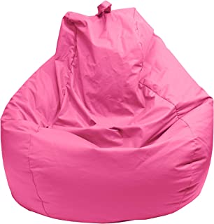 Gold Medal Bean Bags Gold Medal Microsuede Bean Bag, Large, Hot Pink