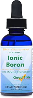Good State   Ionic Boron   Natural   Liquid Concentrate   Nano Sized Mineral Technology   Professional Grade   10 Drops Equals 1 mg   1.6 Fl oz Bottle