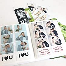 Photo Booth Photo Album - Holds 120 Photobooth 2x6 Photo Strips - Slide in - White Cover