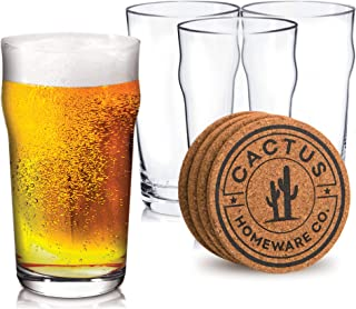 Four Fathers Brewing Co Beer Bar Pint 20oz Glass Set of 2 New Rare