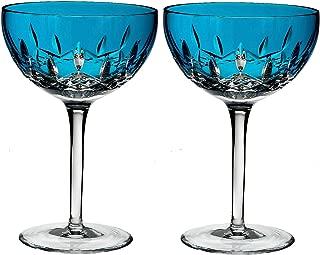 Waterford Lismore Pops Set of 2 Cocktail Glasses Aqua