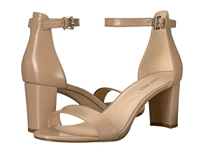 Nine West Pruce Block Heel Sandal (Natural Staci Leather) High Heels