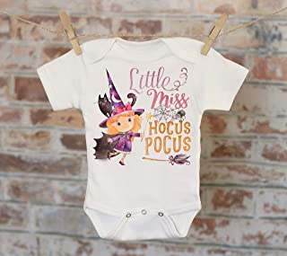 Little Miss Hocus Pocus Onesie - Halloween Costume Fall Witch Cute Baby Bodysuit Boho Funny Onesie