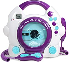 Kids Karaoke Machine – CD & MP3 Player Sing-A-Long Music Player with 2 Microphones