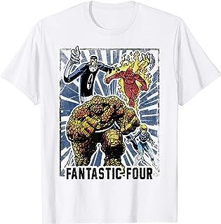 Marvel Fantastic Four Vintage Team Poster T-Shirt