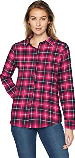 plaid button up womens shirts