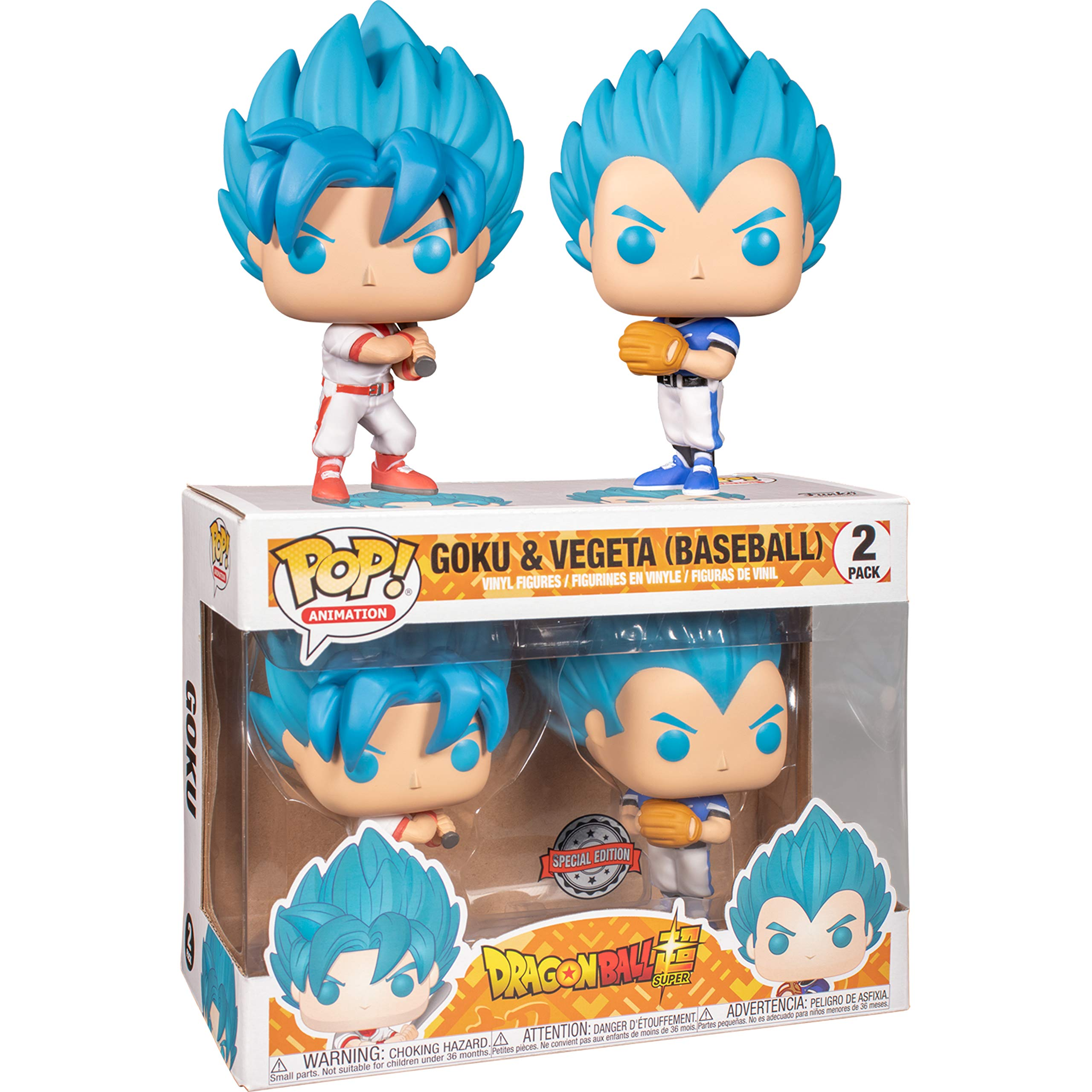 Funko Pop Animation: DBS– Goku & Vegeta (Baseball) 2PK (Exc): Amazon.es: Juguetes y juegos