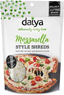 Daiya Cutting Board Shreds Dairy-Free, Gluten-Free, Soy-Free and Plant based Cheese 7.1 oz (Pack of 12) (Mozzarella)