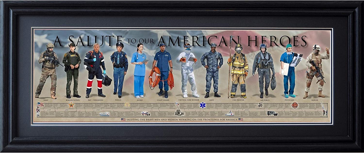 History of the Seasonal Wrap入荷 American Hero Posters Framed Prints Solute 半額 to