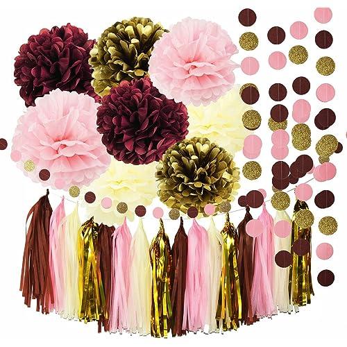 Burgundy Wedding Decorations Amazon Com