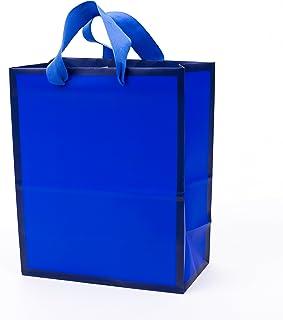 "Hallmark 9"" Medium Gift Bag (Navy Blue) for Birthdays, Hanukkah, Fathers Day, Graduations, Baby Showers or Any Occasion"